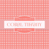Coral Tiffany Digital Paper DP2150 - Digital Paper Shop - 3