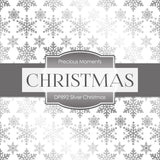 Silver Christmas Digital Paper DP892A - Digital Paper Shop - 2