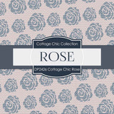 Cottage Chic Rose Digital Paper DP2426 - Digital Paper Shop - 3