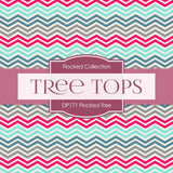 Flocked Tree Digital Paper DP171 - Digital Paper Shop - 3