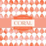Coral Watercolor Digital Paper DP4269 - Digital Paper Shop - 3