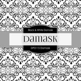 Black & White Damask Digital Paper DP2115 - Digital Paper Shop - 3