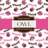 Pink Pattern Owls Digital Paper DP898A - Digital Paper Shop - 3