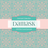 Coral Damask Digital Paper DP3704 - Digital Paper Shop - 3