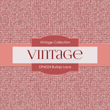 Burlap Lace Digital Paper DP6024 - Digital Paper Shop - 2