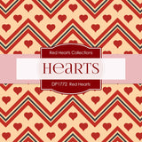 Red Hearts Digital Paper DP1772 - Digital Paper Shop - 3