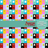Adventure Time Digital Paper DP2587 - Digital Paper Shop - 2