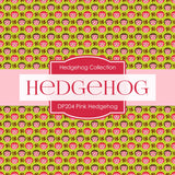 Pink Hedgehog Digital Paper DP204 - Digital Paper Shop - 3
