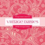 Vintage Daisies Digital Paper DP983 - Digital Paper Shop - 2