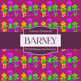 Barney The Dinosaur Digital Paper DP1350 - Digital Paper Shop - 2