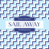 Sail Away Boy Digital Paper DP1628 - Digital Paper Shop - 3