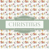 Christmas College Digital Paper DP1517 - Digital Paper Shop - 3