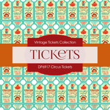 Circus Ticket Digital Paper DP6917