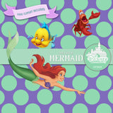 The Little Mermaid Digital Paper DP3029 - Digital Paper Shop - 4