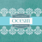 Ocean Lace Digital Paper DP2443 - Digital Paper Shop - 4