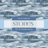 Cold Blue Stones Digital Paper DP7139