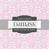 Fairy Damask Outline Digital Paper DP241A