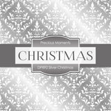 Silver Christmas Digital Paper DP892A - Digital Paper Shop - 3