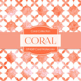 Coral Watercolor Digital Paper DP4269 - Digital Paper Shop - 4