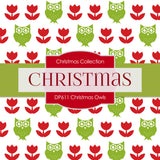 Christmas Owls Digital Paper DP611A - Digital Paper Shop - 3