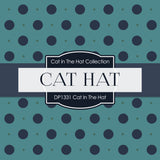 Cat In The Hat Digital Paper DP1331 - Digital Paper Shop - 4