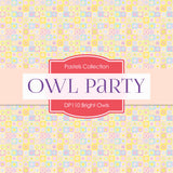 Bright Owls Party Digital Paper DP110 - Digital Paper Shop - 3
