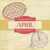 April Weekends Digital Paper DP6052 - Digital Paper Shop - 3