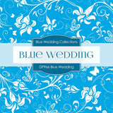 Blue Wedding Digital Paper DP966 - Digital Paper Shop - 3
