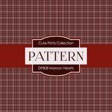 Maroon Hearts Digital Paper DP808 - Digital Paper Shop - 4