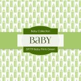 Baby Prints Green Digital Paper DP779 - Digital Paper Shop - 4