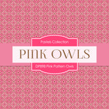 Pink Pattern Owls Digital Paper DP898 - Digital Paper Shop - 3