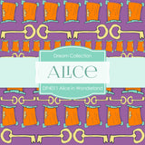 Alice In Wonderland Digital Paper DP4011 - Digital Paper Shop - 3
