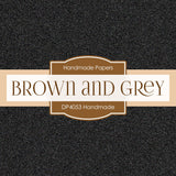 Brown and Grey Handmade Digital Paper DP4053 - Digital Paper Shop - 4