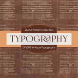 Antique Typography Digital Paper DP6398
