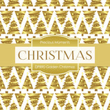 Golden Christmas Digital Paper DP890 - Digital Paper Shop - 3
