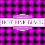 Hot Pink Black Digital Paper DP873 - Digital Paper Shop - 3