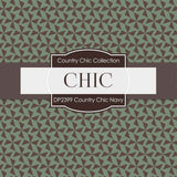 Country Chick Navy Digital Paper DP2399 - Digital Paper Shop - 3