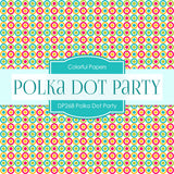 Polka Dot Party Digital Paper DP268 - Digital Paper Shop - 3