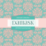 Coral Damask Digital Paper DP3704 - Digital Paper Shop - 4