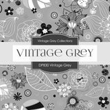 Vintage Gray Digital Paper DP830 - Digital Paper Shop - 3