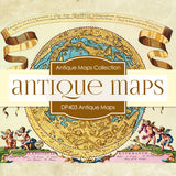 Antique Maps Digital Paper DP403 - Digital Paper Shop - 2