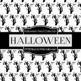 Black and White Halloween Digital Paper DP782 - Digital Paper Shop - 3