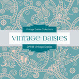 Vintage Daisies Digital Paper DP983 - Digital Paper Shop - 3