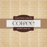 Coffee Text Digital Paper DP6384