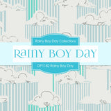 Rainy Boy Day Digital Paper DP1182 - Digital Paper Shop - 4