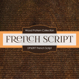 French Script Digital Paper DP6397