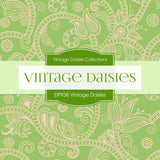 Vintage Daisies Digital Paper DP983 - Digital Paper Shop - 4