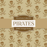 Vintage Pirates Digital Paper DP892 - Digital Paper Shop - 3
