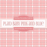Plaid Baby Pink and Blue Digital Paper DP2105 - Digital Paper Shop - 4