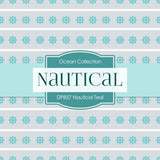 Nautical Teal Digital Paper DP857 - Digital Paper Shop - 3